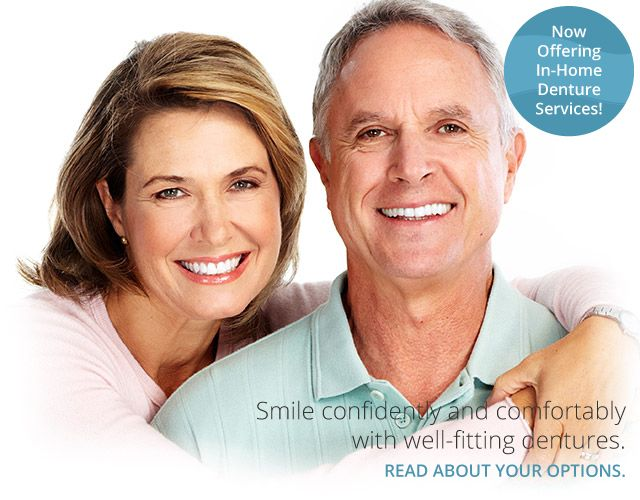 Smile confidently and comfortably with well-fitting dentures. Read about your options. | Mature couple